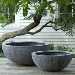 Large Outdoor Plant Pots Fiberstone Bowl Terrain