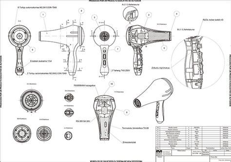 Blok Diagram Hair Dryer hair dryer solidworks on behance