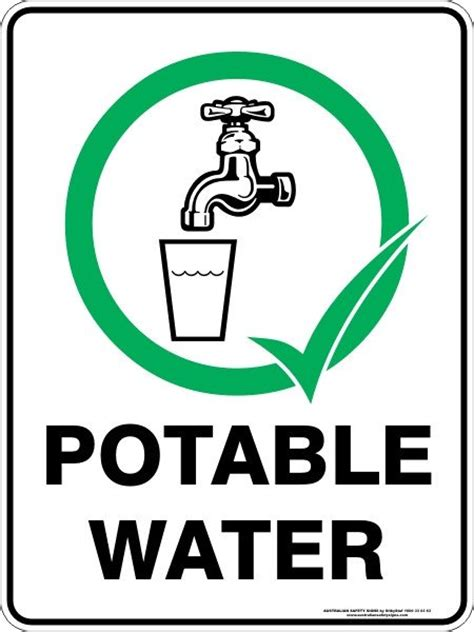 potable water sign clipart best