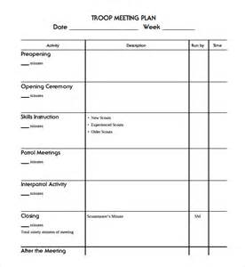 Meeting Planner Templates Sample Meeting Planning Template 9 Free Documents
