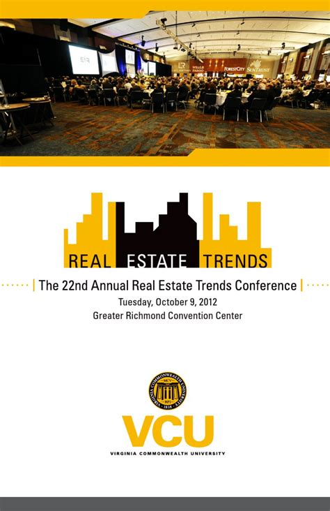 Vcu Mba by Vcu Real Estate Trends Conference Program 2012 By Real