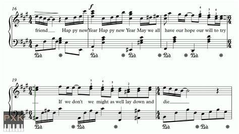 new year flute sheet happy new year abba free piano sheet original