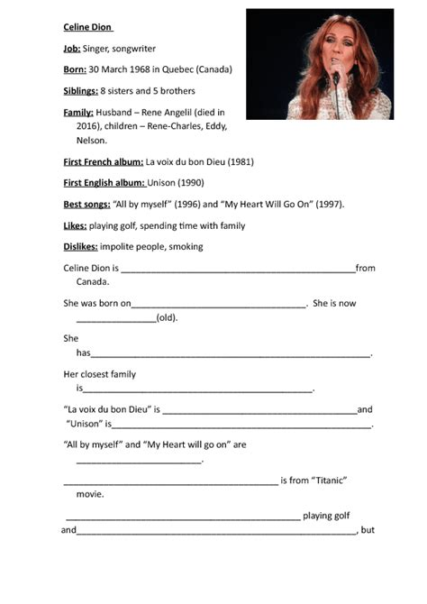 biography writing year 7 257 free celebrities biographies worksheets