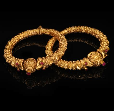 gold jewellery pattern indian jewellery and clothing latest antique gold bangle