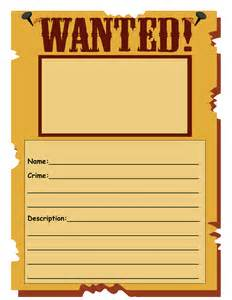Free Wanted Poster Template For Kids Wanted Poster Template By Shelly360 Uk Teaching