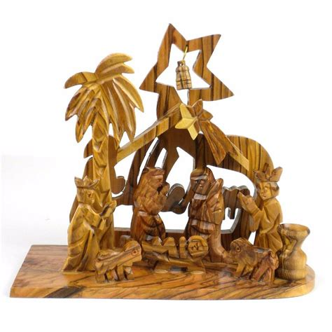 Handmade Nativity - traditional nativity handmade olive wood bethlehem