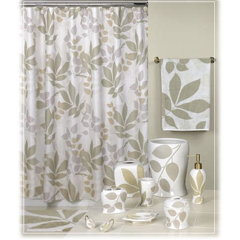 shadow leaves brown shower curtain bath