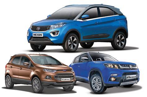 tata nexon  brezza  ecosport specs comparison autocar india