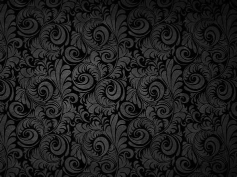 black pattern for website background black floral patterns ppt background background