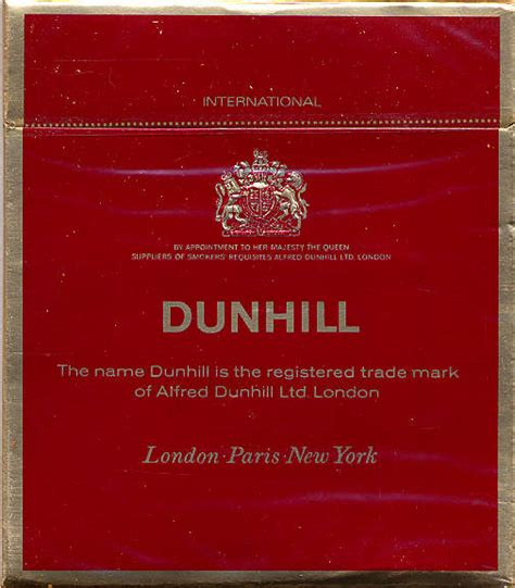 Dunhill International Menthol 20 we smoked page 4 birmingham history forum