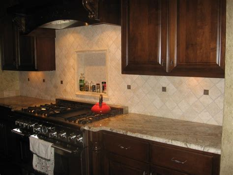 Tumbled Marble Kitchen Backsplash by Kitchen Amp Dining Stone Splash Nature Backsplash For Your