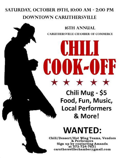 10 best images of chili cook off poster templates chili