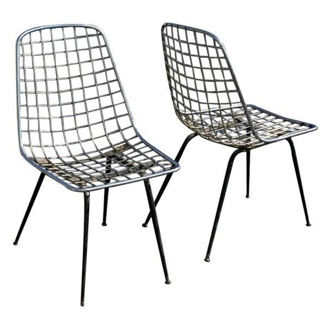 Wire Chair by Pair Of Vintage Italian Style Wire Chair Ebay