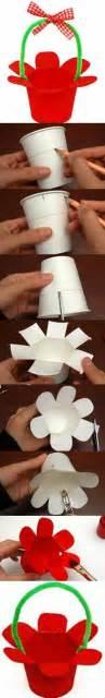 How To Make Paper Like Plastic - diy paper cup basket diy projects usefuldiy