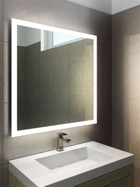led bathroom mirror lighting halo led light bathroom mirror 843 illuminated bathroom