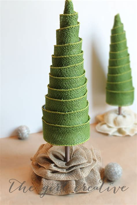 Decorating Tree With Burlap Ribbon by Diy Burlap Ribbon Trees The Creative