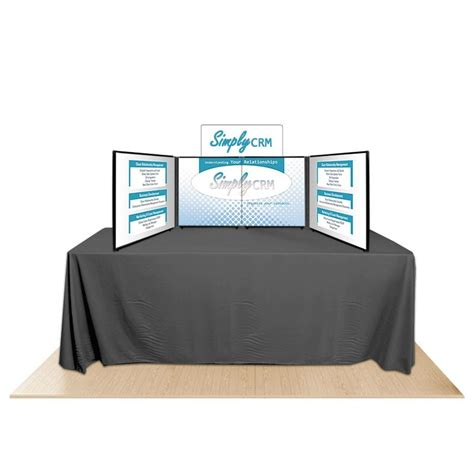 promoter24 4 panel table top display board by affordable