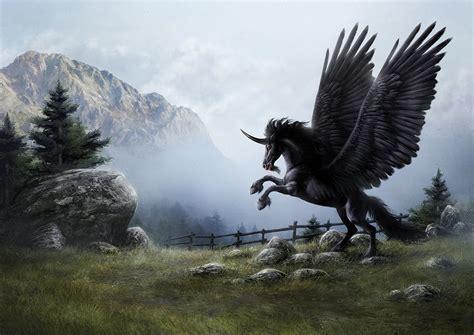 dark unicorn wallpaper dark unicorn by petersiedlart on deviantart