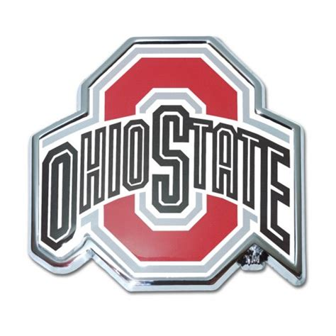 ohio state colors ohio state color and chrome emblem college emblems