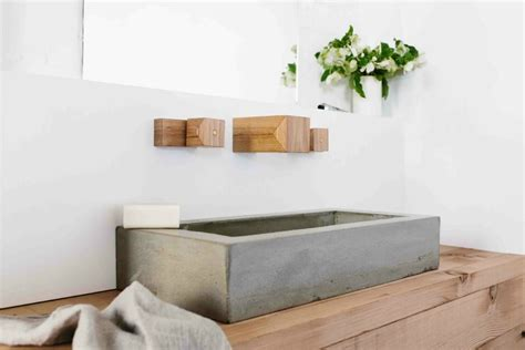 new concrete bath amp tap ware range from wood melbourne