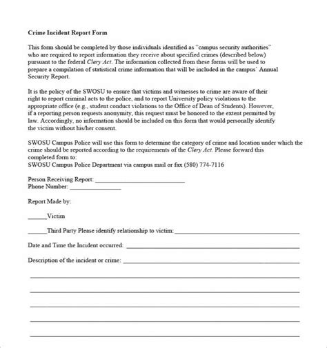 theft report form template 24 printable report templates free pdf formats