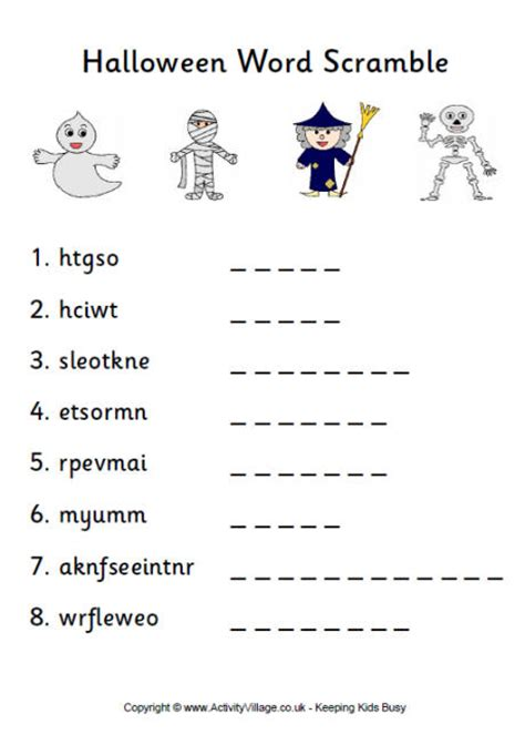 free printable halloween word games for adults number names worksheets 187 unscramble worksheets free