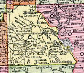 polk county map map of polk county florida 1917