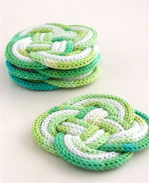 how to knit a coaster knitted knotted coasters knits knitting and diy