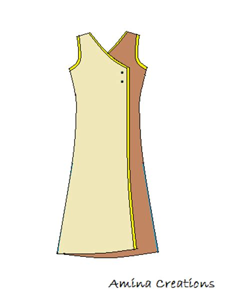 kurti pattern for stitching amina creations how to stitch a kurti with overlapping