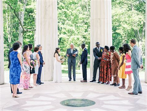 wedding ceremony after eloping ben s intimate dc war memorial elopement