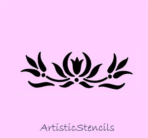 printable stencils vine tulip stencil free cliparts co