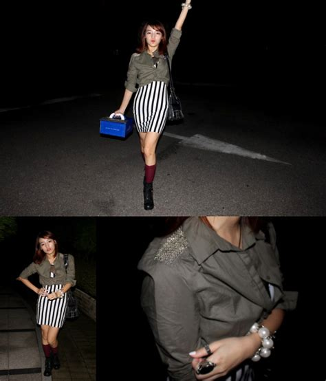 Anting Korea Forever21 Pompom Pearl sunhwa hwang muse s h m see through stripe one pieces