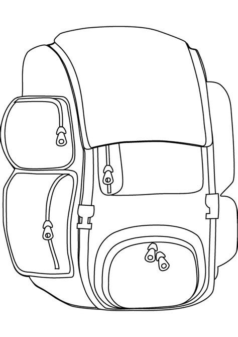 backpack coloring pages 27968 bestofcoloring com