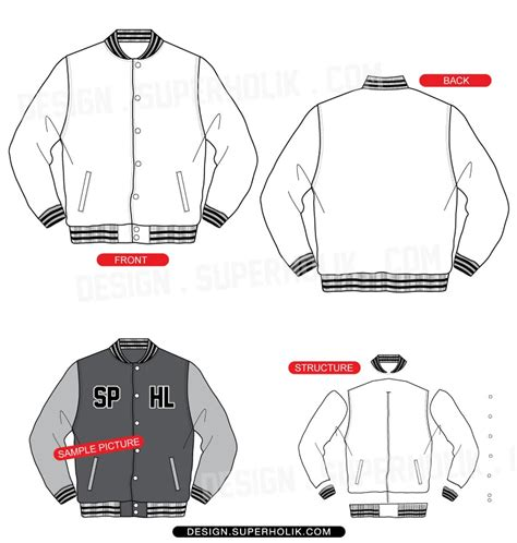 varsity jacket layout varsity jacket template hellovector