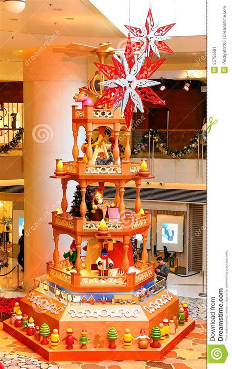 christmas tree at shopping mall editorial photo image