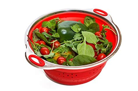 Exclusive Can Strainer Drain Canned Foods With Ease Terbaru best silicone colander out of top 24 2018
