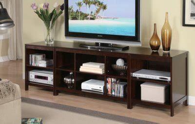 dark espresso finish modern pc tv stand wstorage shelves