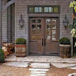 Barn Style Front Door Farmhouse Front Doors Exterior Colors Front Stoop And The Doors