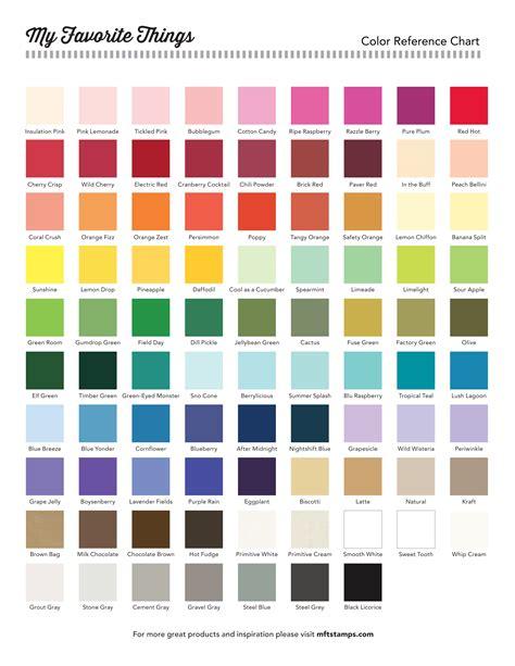 colors chart mft printable resources color charts