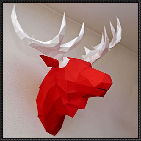 hanging paper craft papercraftsquare new paper craft moose wall