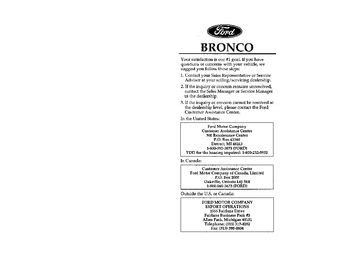 download car manuals pdf free 1996 ford bronco engine control download 1996 ford bronco owner s manual pdf 376 pages