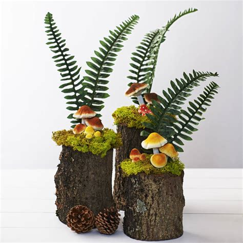 woodland wedding mushroom table decoration by just add a