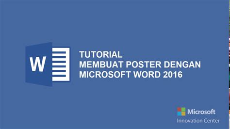 tutorial membuat poster event tutorial membuat poster dengan microsoft word