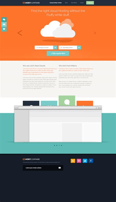 Free Hosting Templates 120 free psd website templates