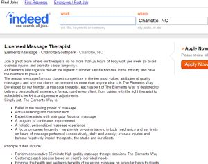 therapist description what you need to