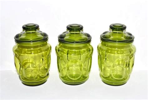 Jojo Canister vintage glass canisters a set of three vibrant by
