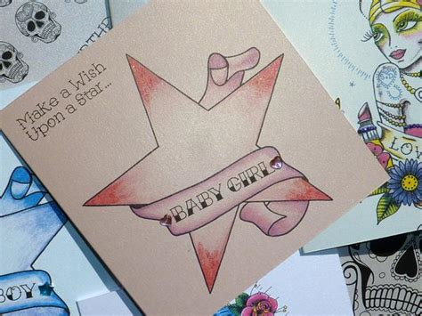 wish upon a star tattoo design wish upon a baby card vickilicious designs
