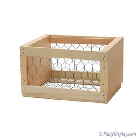 large wire crate wood display crate wood crate chicken wire crate large wire mesh crate painted