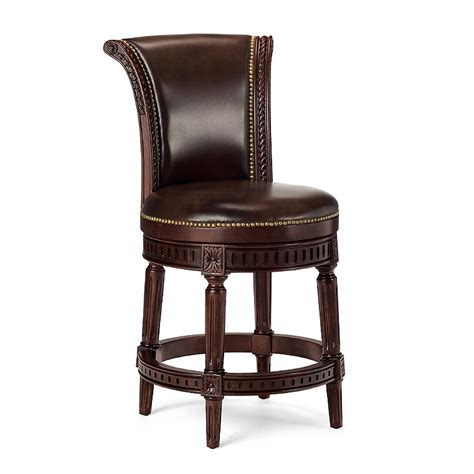Upholstered Bar Stools With Nailheads by Nailhead Trim Upholstered Bar Stool Frontgate