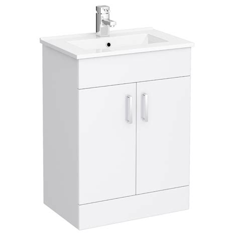 Modern Bathroom Sink Cabinet by Turin Vanity Sink With Cabinet 600mm Modern High Gloss White